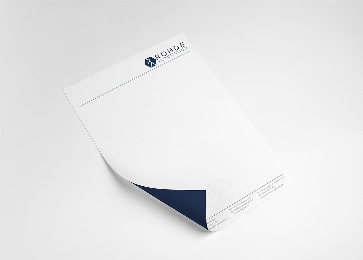 Rohde design carta intestata