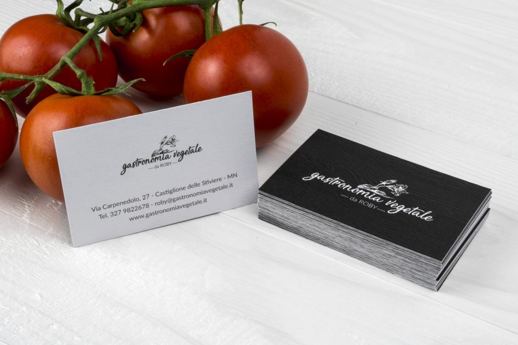 biglietto da visita negozio frutta verdura e gastronomia