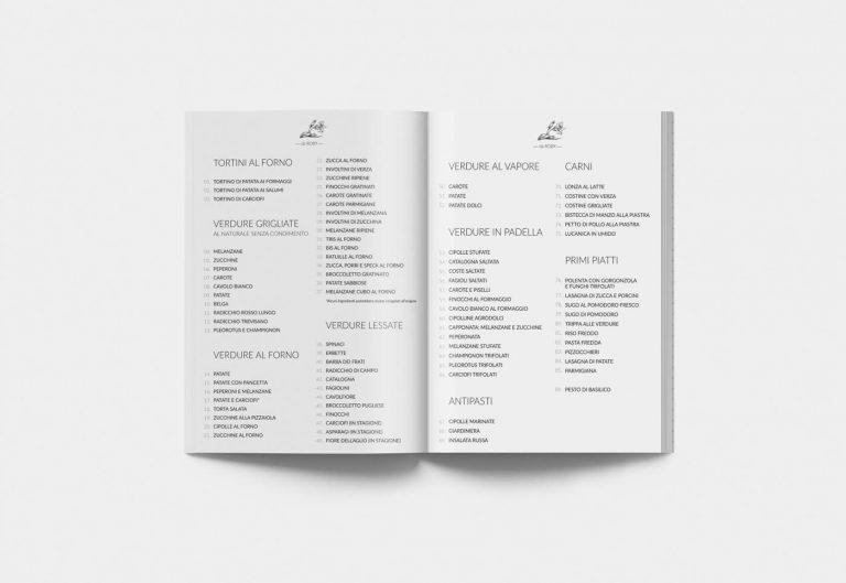 grafica menu gastronomia vegetale