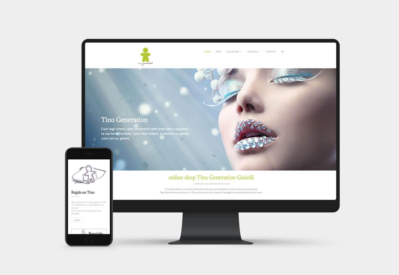 sito ecommerce Tino Generation