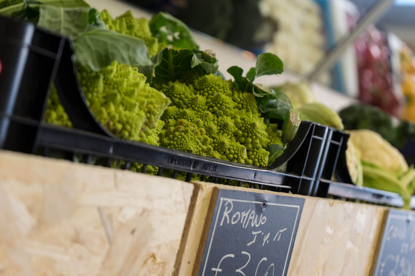 servizio fotografico negozio frutta e verdura