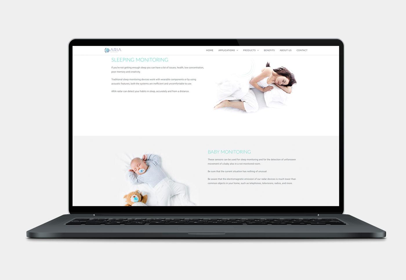 sito web Aria Sensing