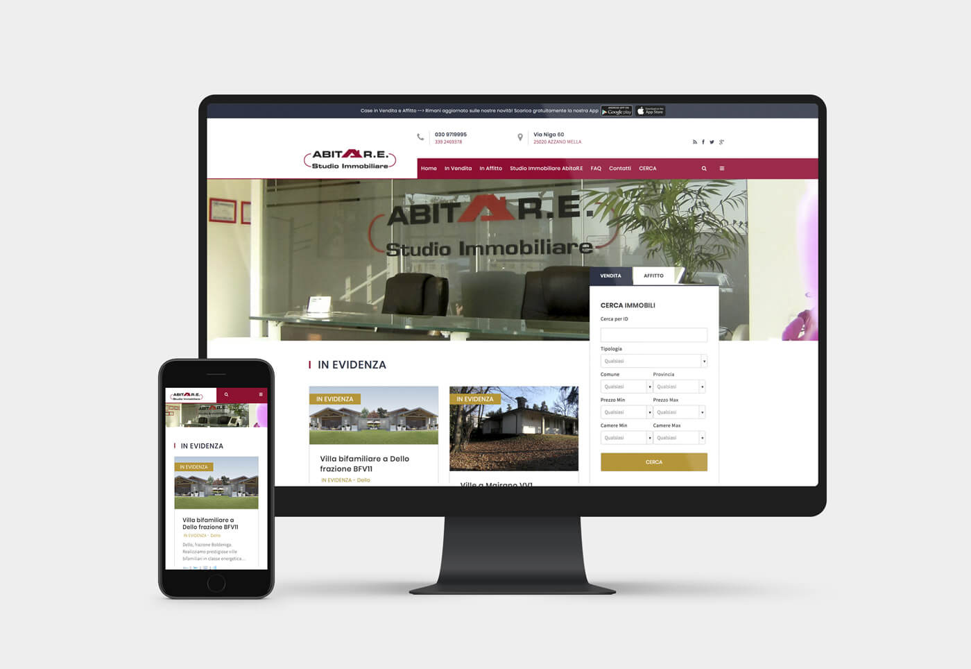 Sito internet per agenzia immobiliare studio abitare a brescia for Abitare design studio
