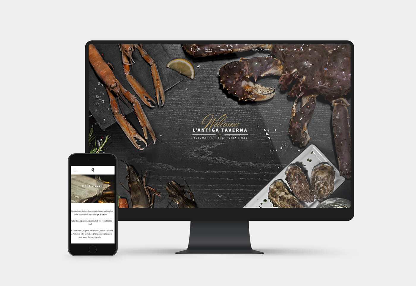 realizzazione sito internet ristorante brescia