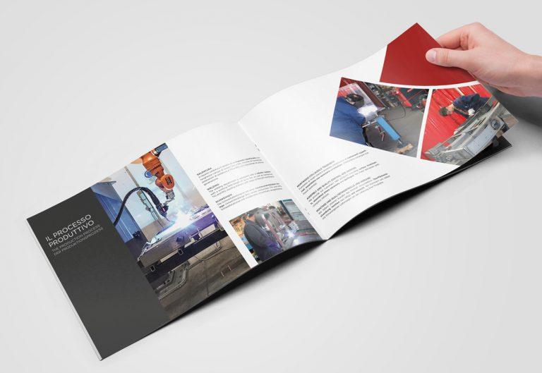 studio grafica brochure per carpenteria