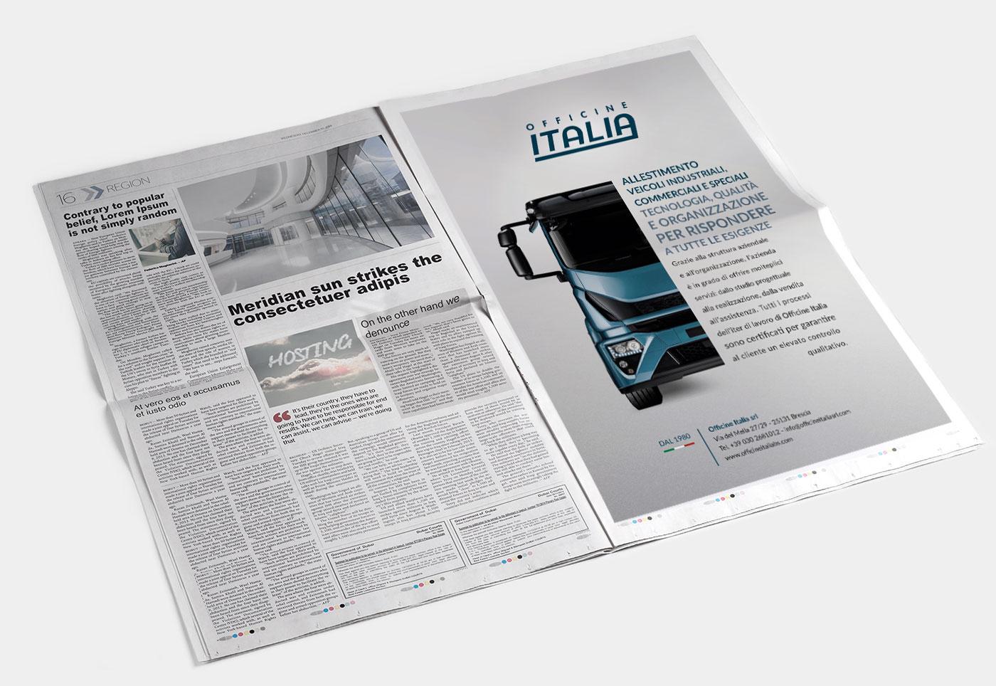 studio grafico adv per giornale di brescia