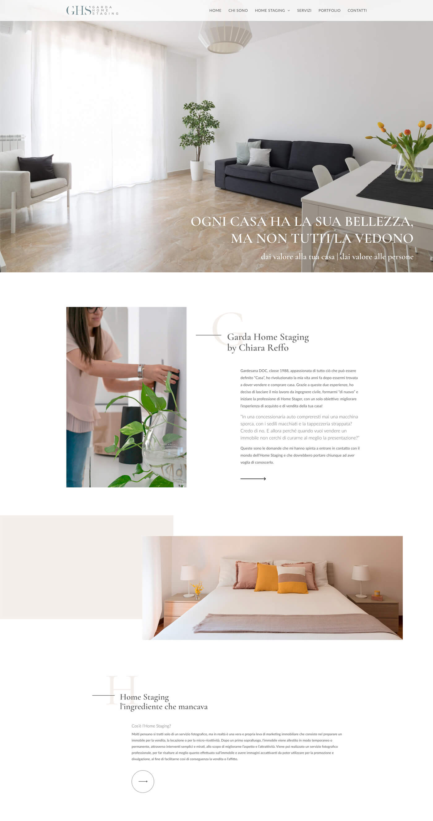 Website redesign Garda Home Staging