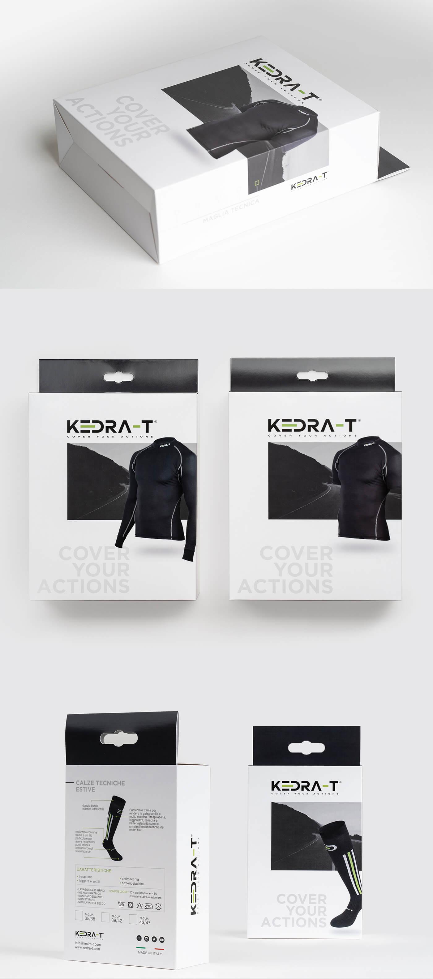 Packaging abbigliamento e accessori per lo sport