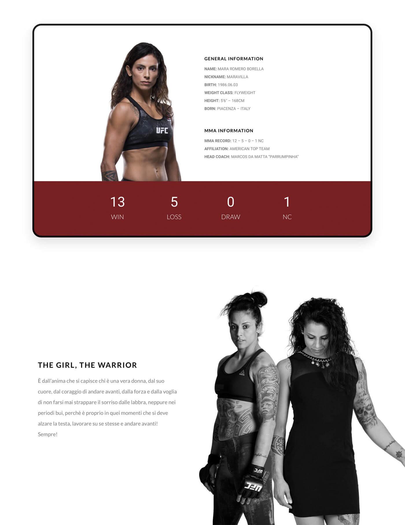 Mara MMA informazioni e record
