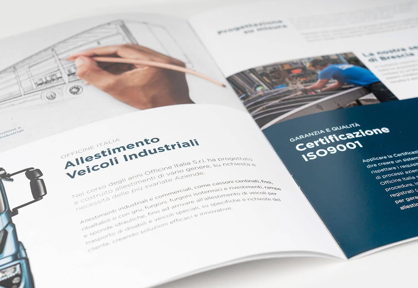 Brochure design Officine Italia srl Brescia