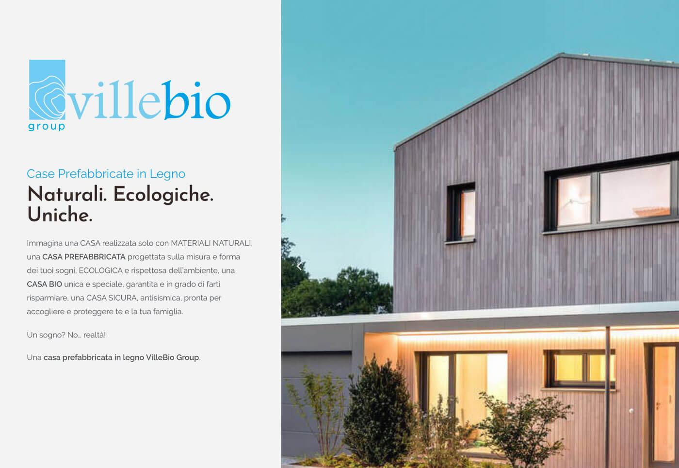 Sito internet con configuratore prezzi case prefabbricate in legno VilleBio